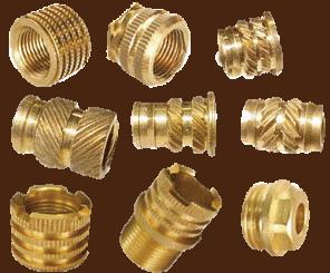 Brass Round Knurled Inserts molding